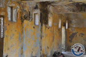 טבעות ברזל מקובעות בקיר לקשירת הסוסים באורוות משטרת קרית אלעינב - צילום: מורן יונה אליאן
