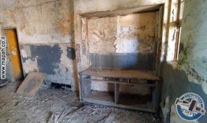 מתקן כלים במטבח עליון של משטרת אבו גוש - צילום: אפי אליאן
