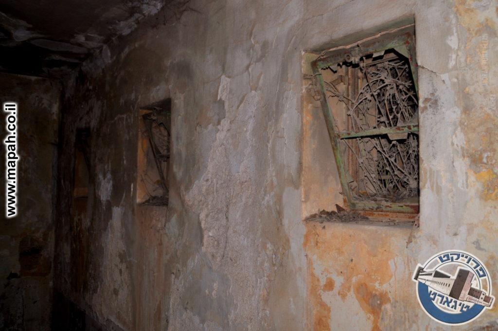 חלונות שנסתמו בצמחייה בת עשרות שנים - משטרת אבו גוש - צילום:  מורן יונה אליאן