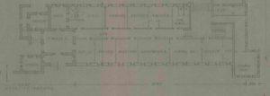 """תרשים מקורי של הבניין הסראייה משולב במצודת הטיגארט אבו גוש - מקור: ארכיון המדינה / ארכיון מע""""צ"""