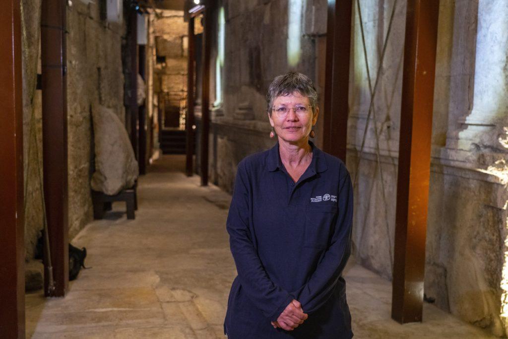 דר' שלומית וקסלר, מנהלת החפירה מטעם רשות העתיקות - צילום: יניב ברמן