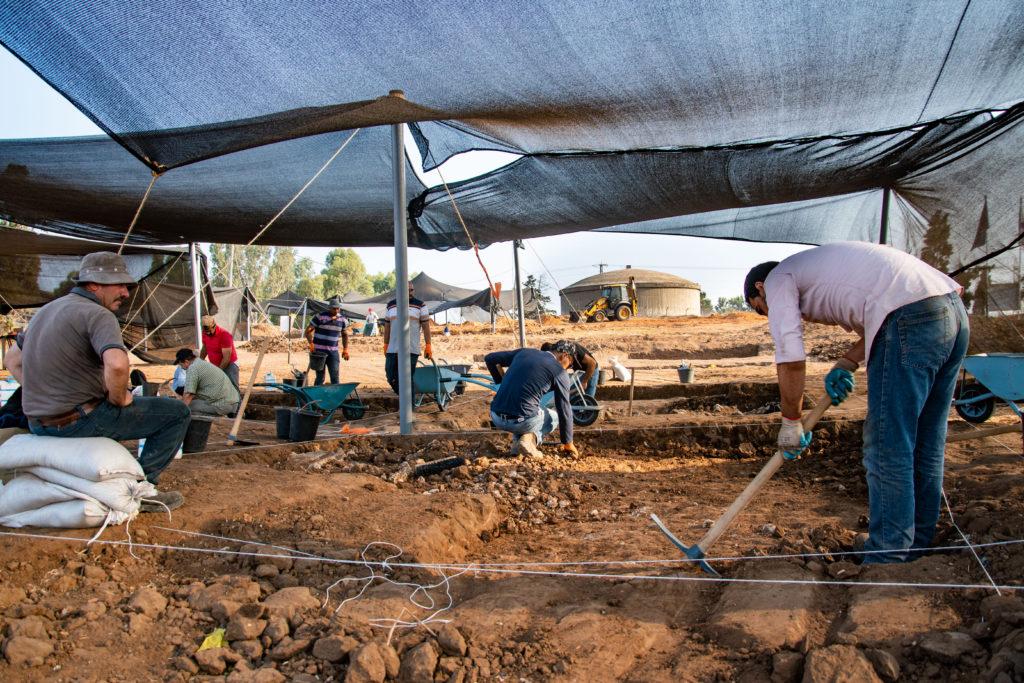 החפירה הארכיאולוגית ברמת השרון. צילום יולי שוורץ